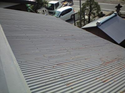 南面の屋根