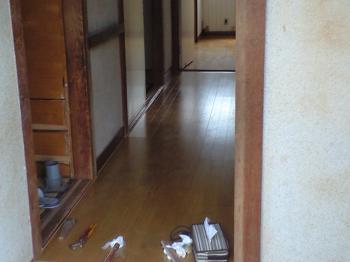廊下も貼り替えました